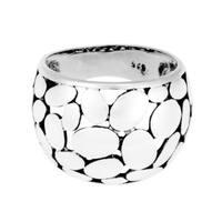 Handmade Variety Dome Medium Oval Pattern .925 Silver Ring (Thailand)