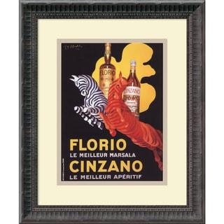 Leonetto Cappiello 'Florio e Cinzano (ca. 1930)' Framed Art Print 14 x 16-inch