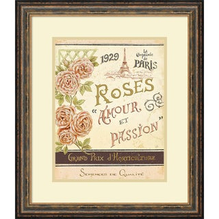 Framed Art Print 'French Seed Packet I' by Daphne Brissonnet 19 x 22-inch