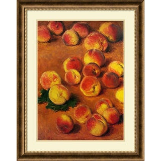 Claude Monet 'Peaches' Framed Art Print 27 x 34-inch