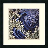Framed Art Print 'Masculine Wave' by Katsushika Hokusai 18 x 18-inch