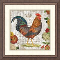 Framed Art Print 'Rooster I' by Suzanne Nicoll 19 x 19-inch