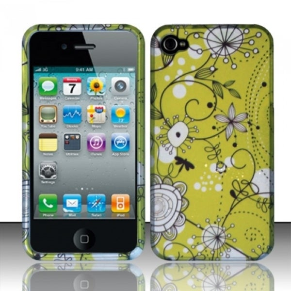 INSTEN Rubberized Pattern Design Hard Plastic Phone Case Cover for Apple iPhone 4/ 4S
