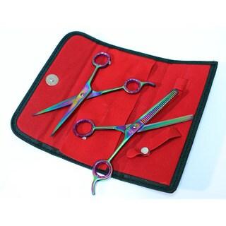 Defender Professional Multi-Color Razor Edge Barber and Thinning Scissors