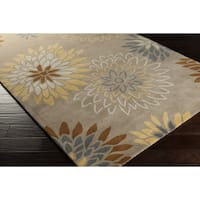 Hand-tufted Dazzle Floral Wool Area Rug - 9' x 12'