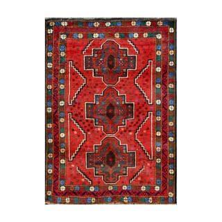 Herat Oriental Afghan Hand-knotted Tribal Balouchi Wool Rug (2'7 x 3'11)