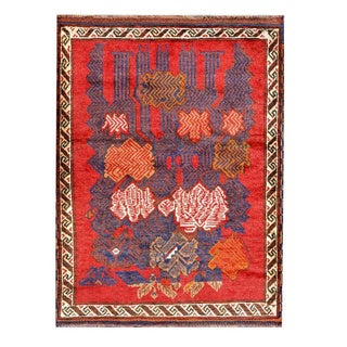Herat Oriental Afghan Hand-knotted Tribal Balouchi Wool Rug (2'10 x 3'9)