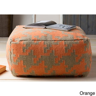 Hand Crafted Bryant Houndstooth 24-inch Large Square Pouf (4 options available)