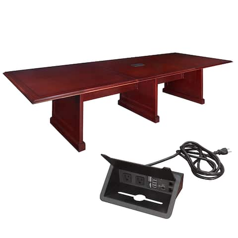 Regency 144-inch Prestige Modular Conference Table with Power - Mahogany