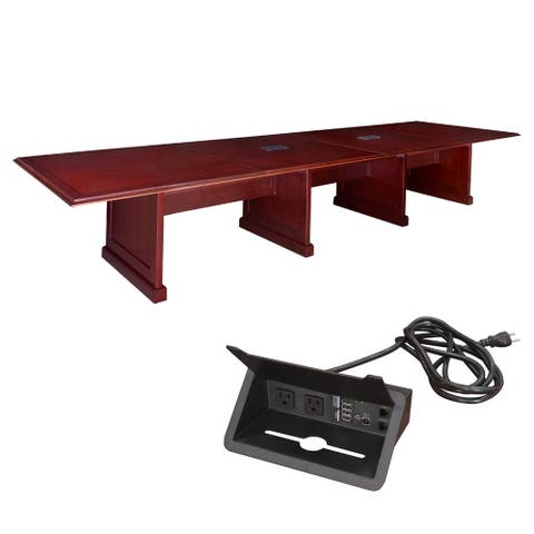 Regency 192-inch Prestige Modular Conference Table with Power - Mahogany