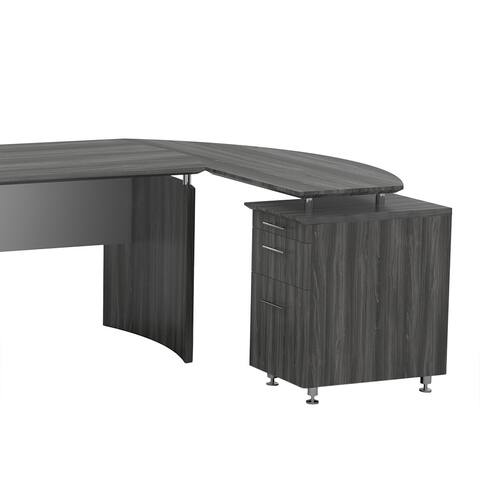 Mayline Medina Curved Desk Return with Box/ File Pedestal
