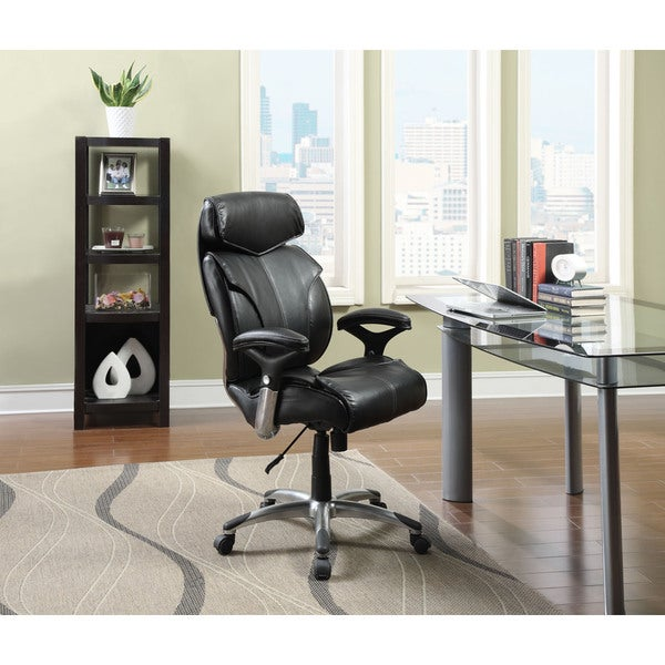 serta executive black bonded leather big and tall office chair big office chairs executive office chairs