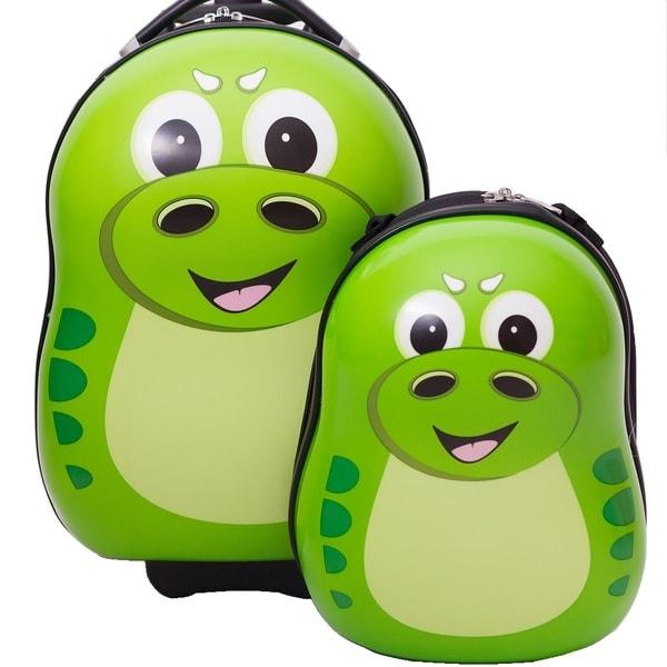 Cuties & Pals P-Rex Dinosaur Kids 2-piece Hardside Luggage Set ...
