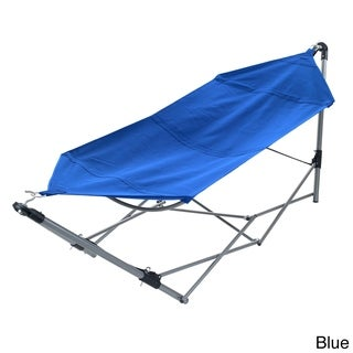 Portable Hammock with Stand-Folds and Fits into Included Carry Bag by Pure Garden (3 options available)