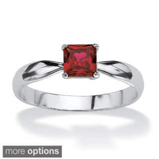 Princess-Cut Birthstone Sterling Silver Solo or Stack Ring Color Fun|https://ak1.ostkcdn.com/images/products/9202953/P16374443.jpg?impolicy=medium