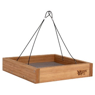 Nature's Way Advanced Bird Products BWF3 Wild Bird Bamboo Hanging Platform Feeder