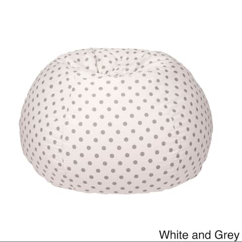 XXLarge 100-percent Cotton Polka Dot Print Bean Bag