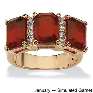 Goldplated Birthstone And Cubic Zirconia Ring|https://ak1.ostkcdn.com/images/products/9203075/P16374551.jpg?impolicy=medium