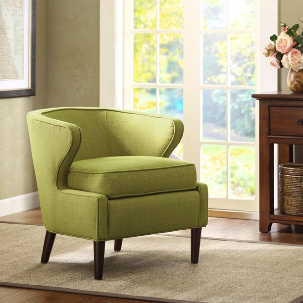 Lucca Rust Extended Arm Chair: Shop Lucca Light Green Extended Arm Chair