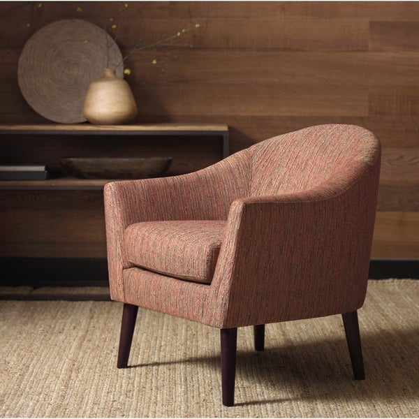 Shop Grayson Rust Accent Chair Free Shipping Today