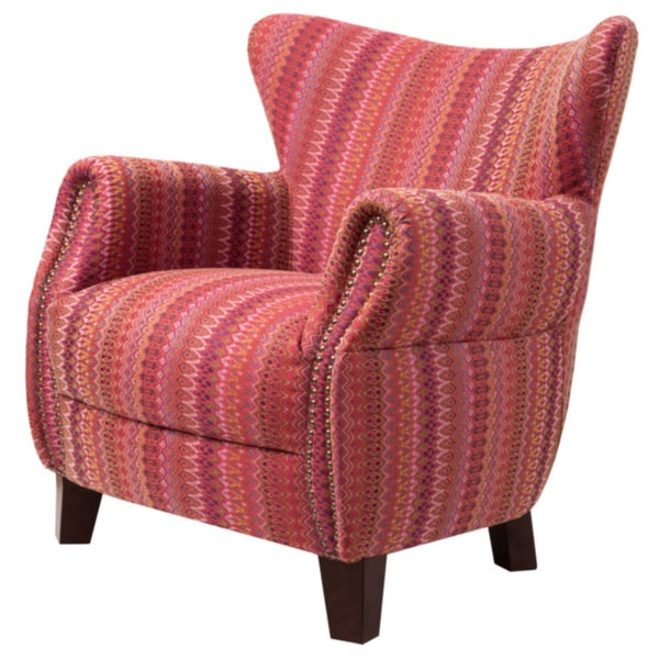Shop Giselle Tuscan Pattern Fabric Accent Chair