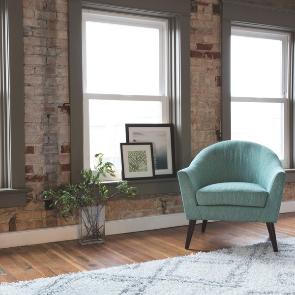 Shop Grayson Teal Accent Chair Free Shipping Today