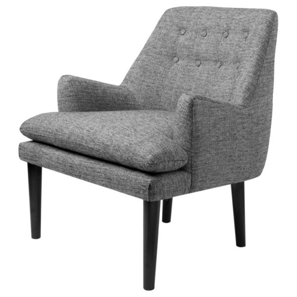 Shop Taylor Grey Tufted-Back Accent Chair - Overstock ...