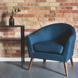 Grayson Navy Accent Chair Free Shipping Today Overstock 16374461