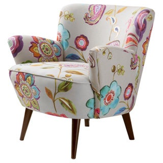 Perfect Silver Orchid Sophie Floral Accent Chair