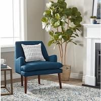 Carson Carrington Taylor Mid Century Navy Blue Tufted Accent Chair