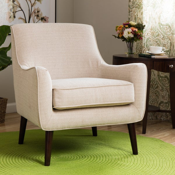 Oxford Cream Colored Modern Accent Chair