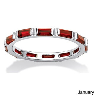 Link to Baguette Birthstone Stackable Eternity Band in .925 Sterling Silver Color Fun Similar Items in Birthstone Jewelry