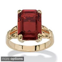 And Emerald-Cut Crystal Birthstone Ring