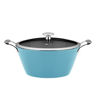 Mario Batali by Dansk Light 3-quart Turquoise Round Cast Iron Casserole Dish