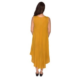 Women's Palm Tree Sleeveless Rayon Sundress (India)