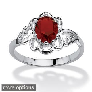 Oval-Cut Open Scrollwork Birthstone Ring in Sterling Silver Color Fun|https://ak1.ostkcdn.com/images/products/9203287/P16374721.jpg?impolicy=medium
