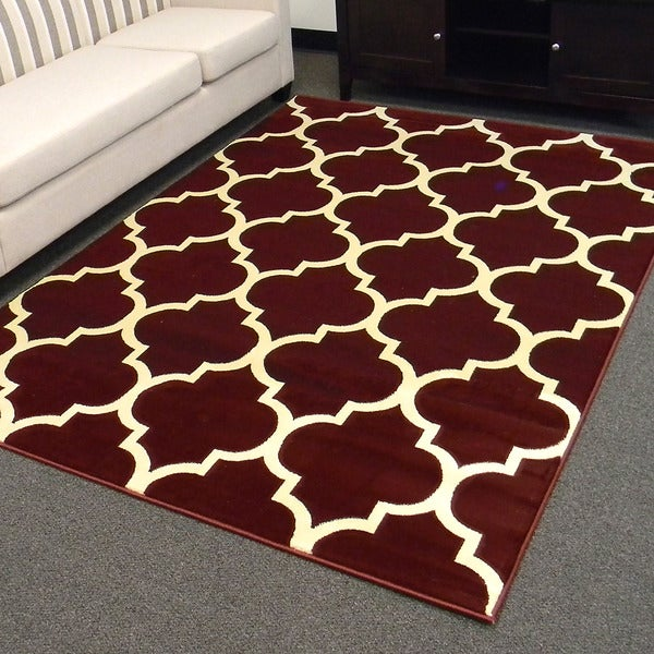 Shop Donnieann Tiffany Design Geometric Pattern Burgundy