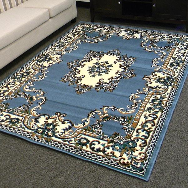 Sears Area Rugs 5x8: Shop DonnieAnn TajMahal Blue Oriental Design Area Rug (5