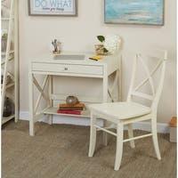 Simple Living Antique White X 2-piece Study Set