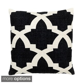 Black Zanzibar Decorative Throw Pillow