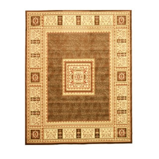 Brown Transitional Floral Josephine Rug (7'10 x 9'10)
