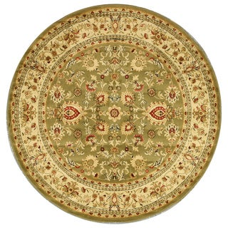 Green Traditional Oriental Green Mahal Rug (5'3 Round)
