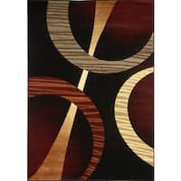 Home Dynamix Evolution Collection Contemporary Black Area Rug  (7'10X10'2)