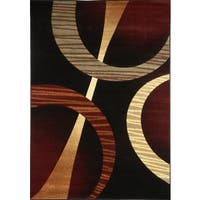 Home Dynamix Evolution Collection Contemporary Black Area Rug - 7'10X10'2
