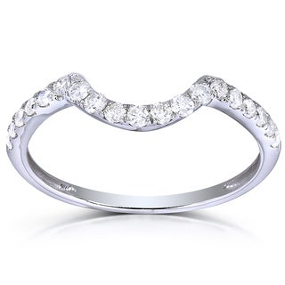 Annello by Kobelli 14k White Gold 1/3ct TDW Diamond Enhancer Wedding Band (H-I, I1-I2)
