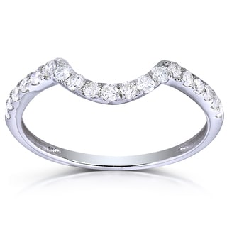 Annello 14k White Gold 1/3ct TDW Diamond Enhancer Wedding Band (H-I, I1-I2)