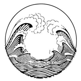 Ocean Wave Circle Wall Vinyl Art