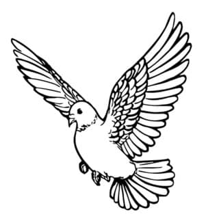 Flying Dove Wall Vinyl Art