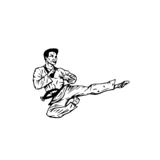 Karate Air Kick Wall Vinyl Art
