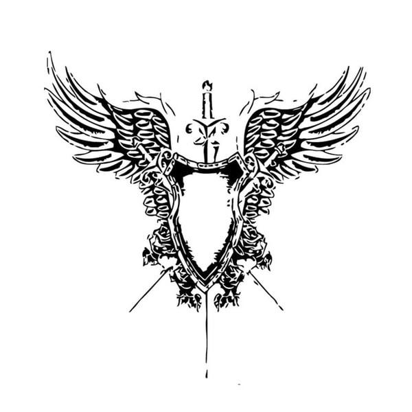 Shop Sword Wings Coat Of Arms Wall Vinyl Art Free